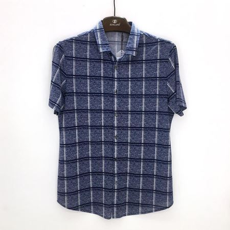绅浪短袖T恤衫BS-001 蓝灰色 2018夏季新款