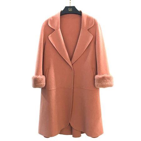 佧茜文 双面呢大衣 17811A8151276 肤粉