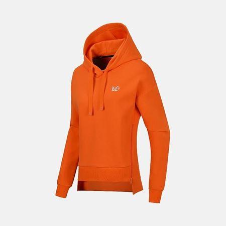 李宁 18新款 女子运动套头衫 连帽卫衣 运动服 AWDN018 焰橙色