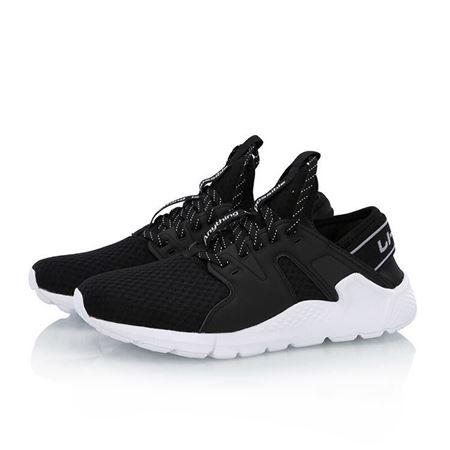 李宁女鞋休闲鞋经典减震防滑那边运动鞋AGCN114 -1标准黑