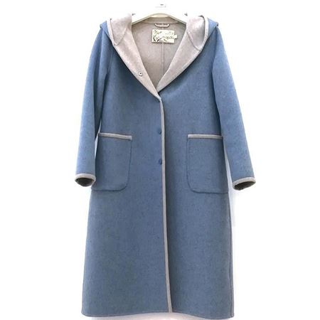 依伽依佳 兰色羊毛大衣 YBDD429 2018年冬季新款