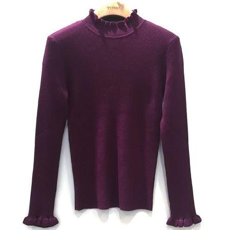 易菲 合体短款毛衫 1811M401 花影缤纷 2018年冬季新款