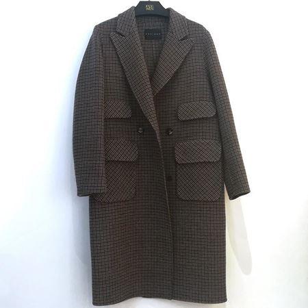 佧茜文 双面呢大衣 A10ADB86311 千鸟格 2018年冬季新款