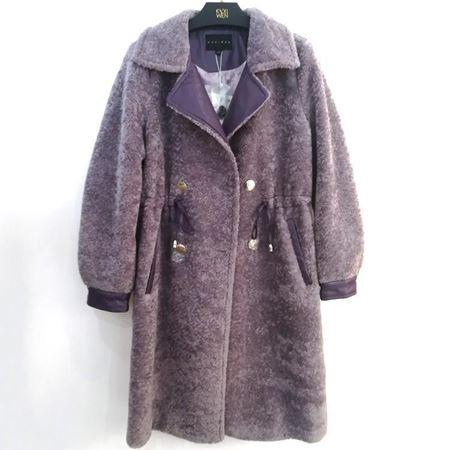 佧茜文 人造皮草大衣 RA0BWB81971 深紫色 2018年冬季新款