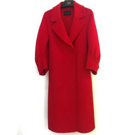 佧茜文 气质收腰双面呢大衣 D10ADB86871法国红 2018年冬季新款