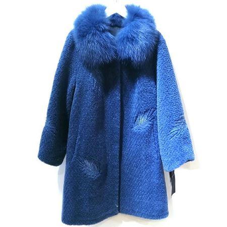 度歌 羊毛服饰 JG055 蓝色  2018年冬季新款
