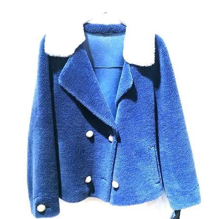 度歌 皮毛合体 933 蓝色  2018年冬季新款