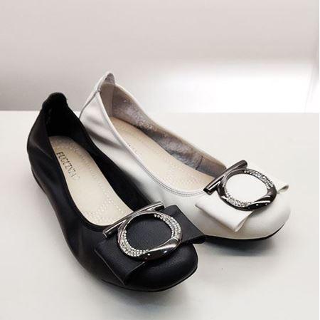 富贵鸟 2019春季新款女鞋 FW9121032 黑色/米白色