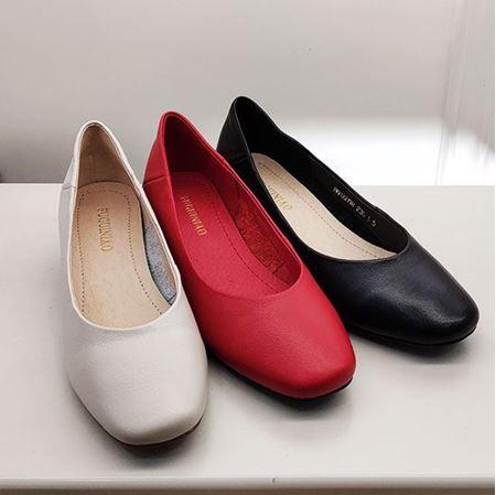 富贵鸟 2019春季新款女鞋 FW9122798 黑色/白色/红色