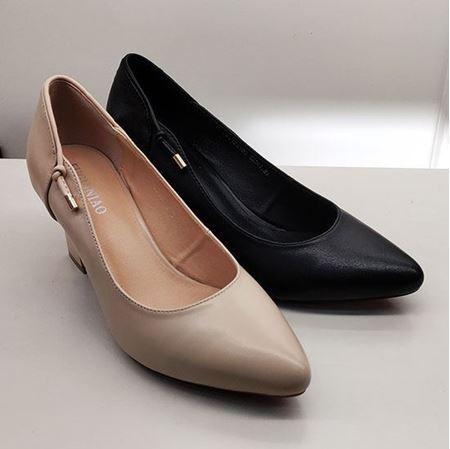 富贵鸟 2019春季新款女鞋 FW9122103 黑色/米色