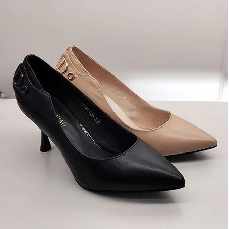 富贵鸟 2019春季新款女鞋 FW9122511 黑色/浅棕