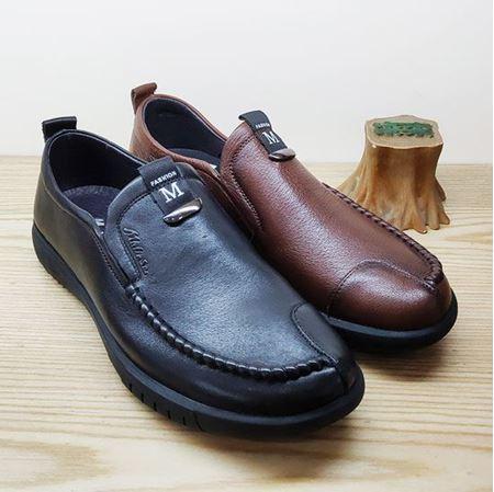 木林森 2019春季新款男鞋CM91J10161 黑色/棕色