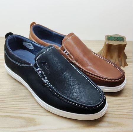 木林森 2019春季新款男鞋 CM91J4322 深蓝/土黄色