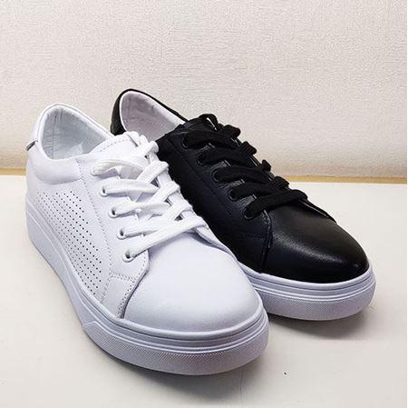 骆驼 2019春季新款女鞋休闲鞋A191508126 黑色/白色