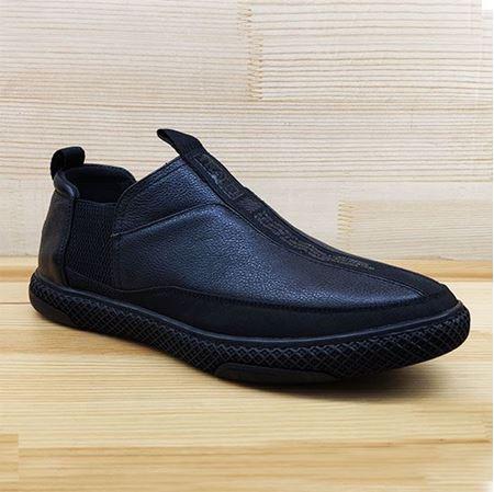 豪行 2019春季新款休闲男鞋K845803 黑色