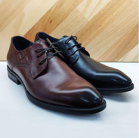 七匹狼鞋业 休闲男鞋8283030758 黑色/棕色