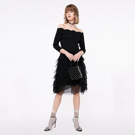 ONLY 2019春季新款 黑色修身时尚针织连衣裙女 119146521