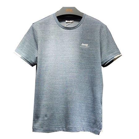 Jeep男式短袖T恤衫 J922194511 蓝花灰/品牌黑 2019夏季新款