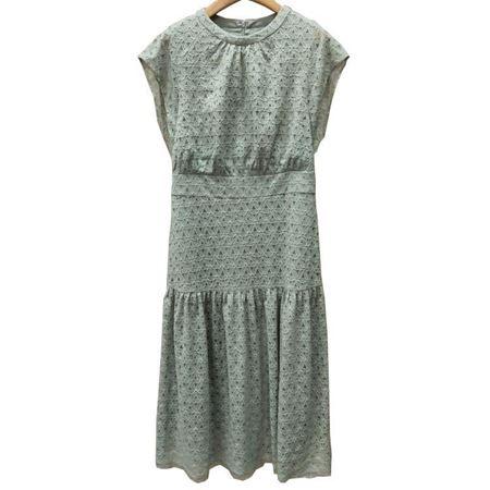 鄂尔多斯连衣裙C295|4014 淡豆绿 2019夏季新品