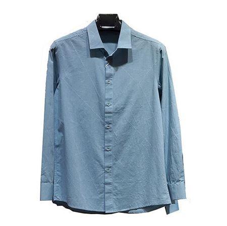 马可·莱登休闲衬衫1901 浅蓝 100%棉 2019夏季新款特惠