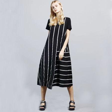 C/P女士连衣裙套装L192386 黑白条 2019夏季新款
