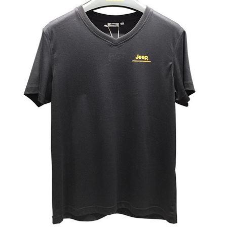 Jeep 男式短袖T恤衫 J822194549 品牌黑 2019夏季新款