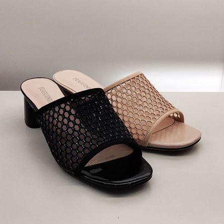 富贵鸟女士凉鞋FW9226827 粽色/黑色 2019夏季新款