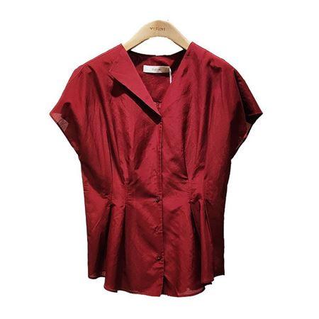易菲合体开襟上衣1905C408 砖红 2019夏季新款