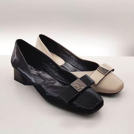 【中秋特惠】富贵鸟 2019秋季新款女鞋 FW9622107 黑色/米色