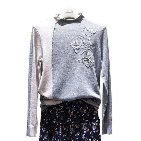 依伽依佳针织衫YJQZ341 灰色 2019秋季新款