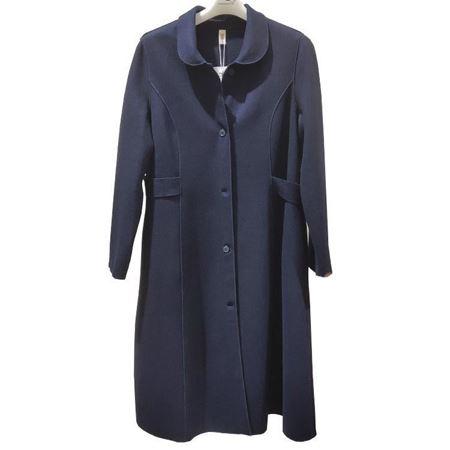 依伽依佳针织外套YJQW330 棉羊毛 藏蓝 2019秋冬新款