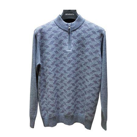 海尔曼斯男式半开拉链长袖羊绒衫 J710B28LP110