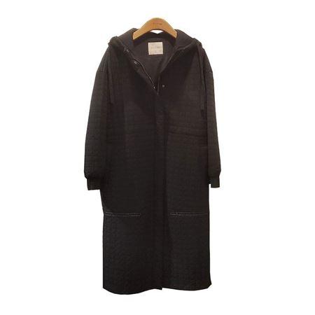 易菲YIFINI宽松长棉服1910L603 黑色 2019冬款