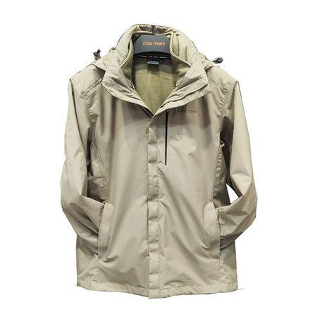 肯拓普男式针织两件套冲锋衣C142894011 卡其 2019秋冬新款