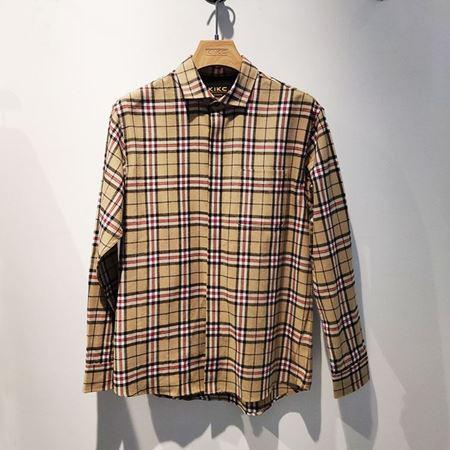 KIKC男长袖休闲衬衫A2W040318 58巴宝莉风 2020年春季新款