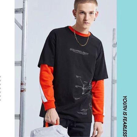 KIKC青春潮流T恤B3H01067401 黑色